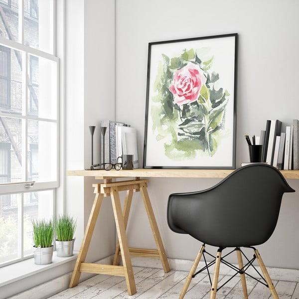 Plakát s abstraktní květinou, 30 x 40 cm