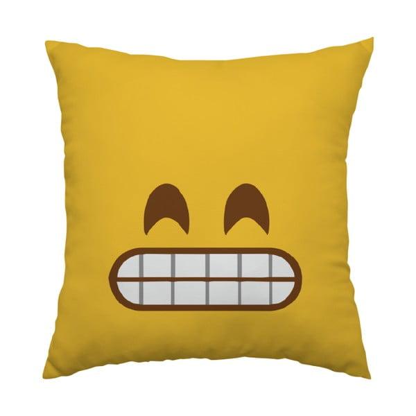 Polštář Emoji Grrr, 40x40 cm