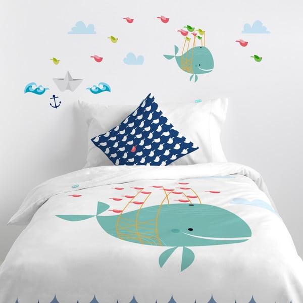 Samolepka na zeď Whale Ride, 29,7x42 cm