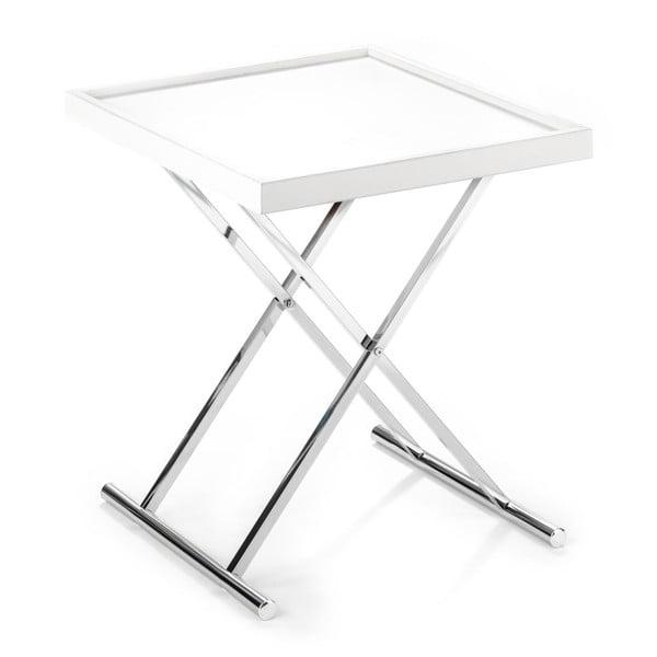 Baldi fehér tárolóasztal, levehető lappal - Tomasucci