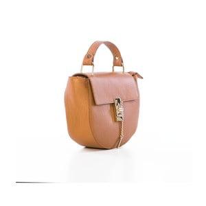 Taupe kabelka z pravé kůže Federica Bassi Kella