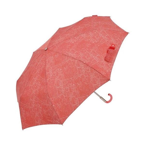Červený skladací dáždnik Ambiance Missy, ⌀ 108 cm