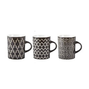 Set 3 căni Villa Collection Mug, 350 ml, negru
