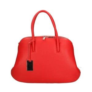 Červená kožená kabelka Roberto Buono Bella