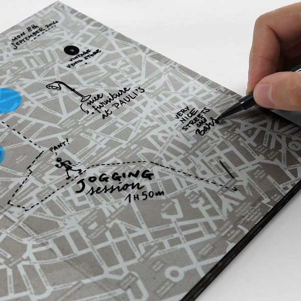 Mapa na popisky Palomar Transparent City Barcelona