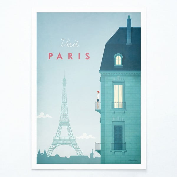 Poster Travelposter Paris, A3