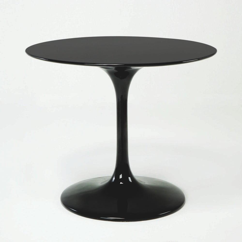 Černý skleněný jídelní stůl Thai Natura Bubble, ⌀ 120 cm