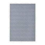 Modrý koberec vhodný i na ven Hanse Home Karo, 140x200cm