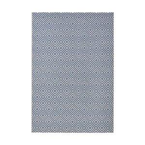 Modrý koberec vhodný do exteriéru Bougari Karo, 140x200cm