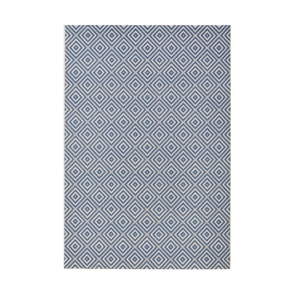 Karo kék kültéri szőnyeg, 140 x 200 cm - Bougari