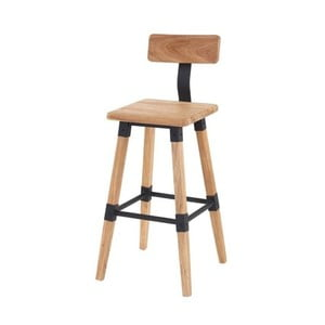 Barová židle z elmového dřeva VIDA Living Hunter, výška 93 cm