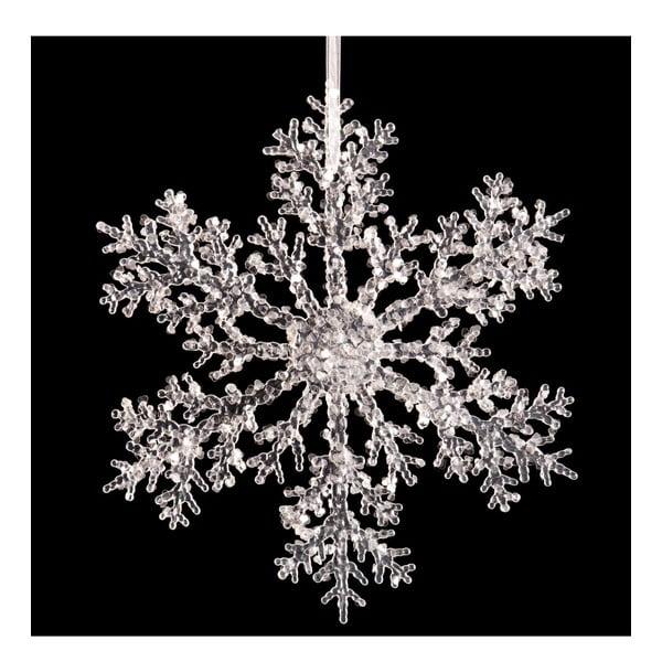Závesná dekorácia v tvare snehovej vločky Unimasa Snow, ⌀ 30 cm
