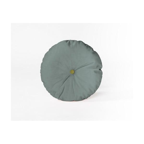 Okrúhly dekoratívny vankúš so zamatovým poťahom Velvet Atelier Turquoise, Ø45cm