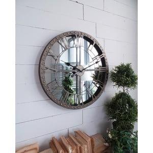 Nástěnné hodiny Industrial Mirror, 60 cm