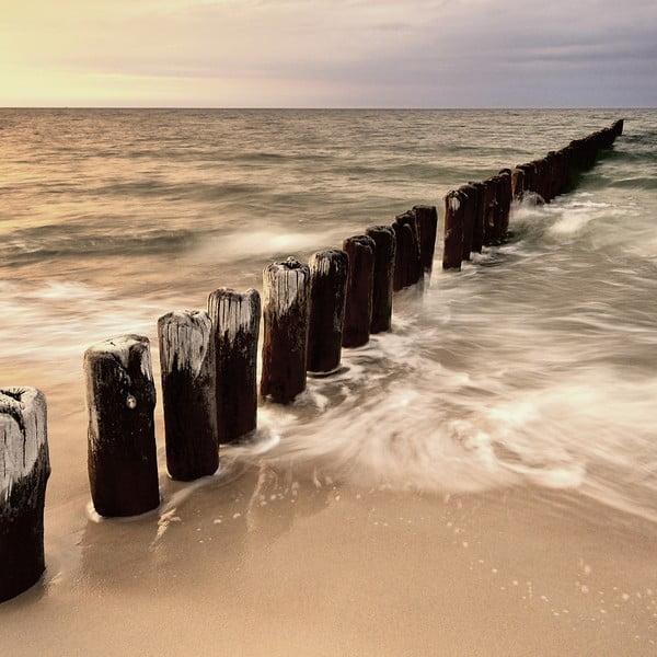 Skleněný obraz Sunset & Sea, 30x30 cm