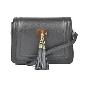 Černá kožená kabelka Luisa Vannini Calvina