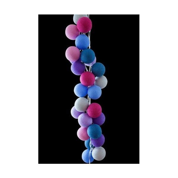 Světelný řetěz Cotton Candy, 50 ks světýlek