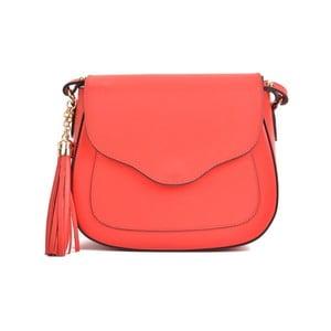 Červená kožená kabelka Mangotti Bags Karmo