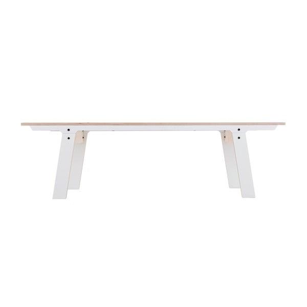 Bílá lavice na sezení rform Slim 01, délka 165 cm