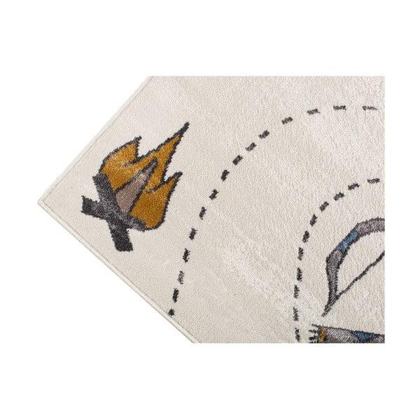 Světlý koberec s indiánským motivem KICOTI Pearl, 80 x 150 cm