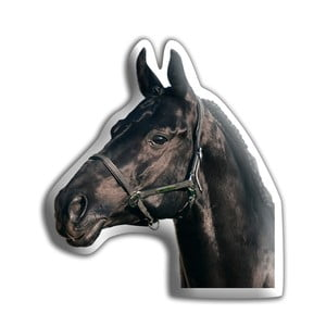 Polštářek Adorable Cushions Černý kůň