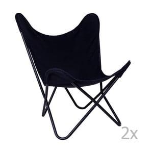 Sada 2 černých židlí House Nordic Como