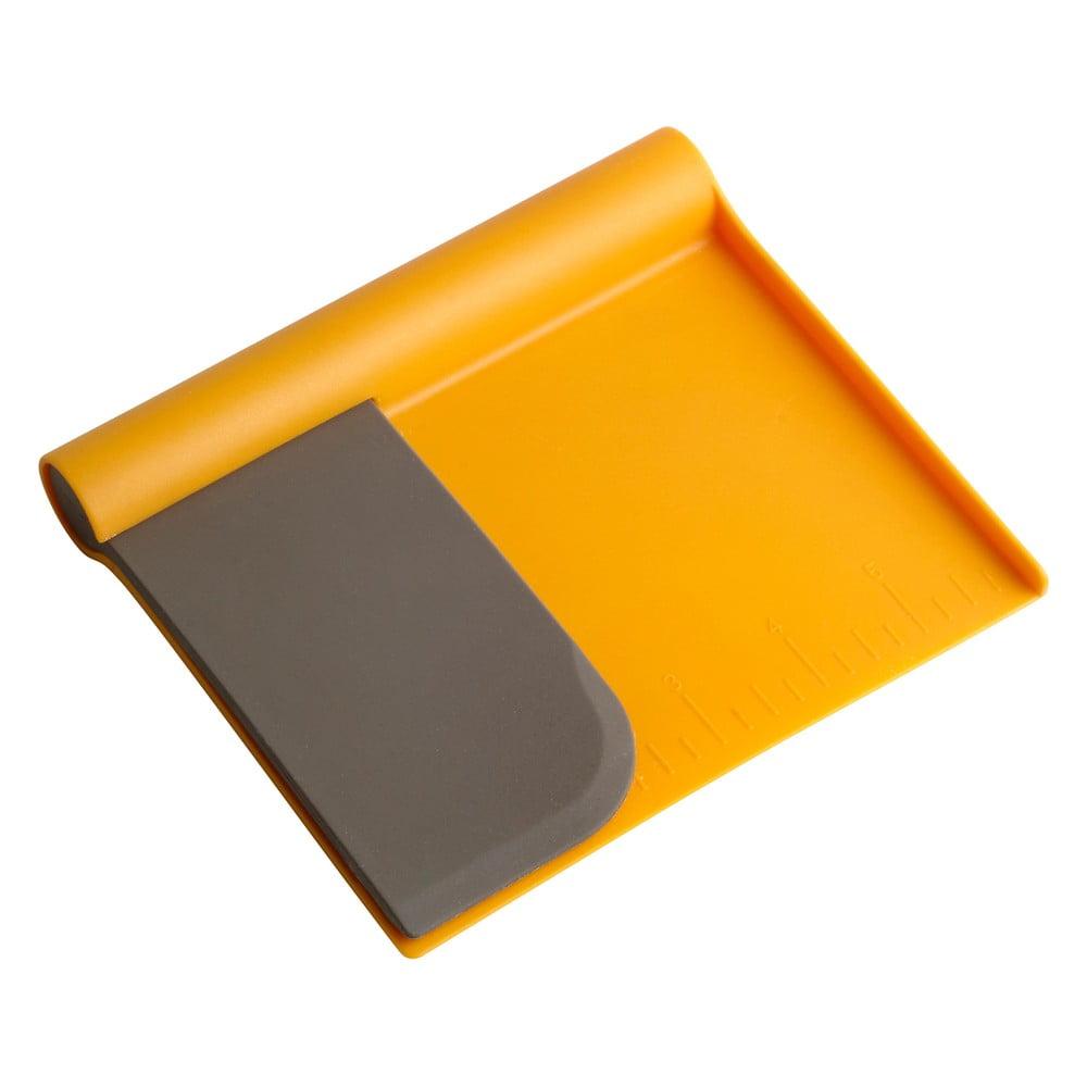 Set oranžového kráječe na těsto a stěrky Steel Function Scraper