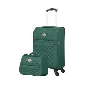 Sada zeleného kufru atoaletní tašky GERARD PASQUIER Adventure, 38 l + 16 l