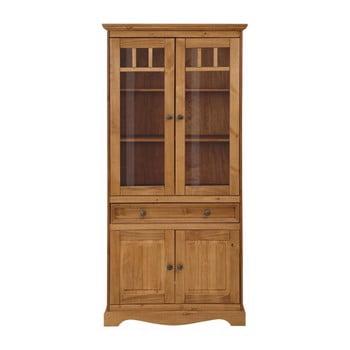 Vitrină din lemn masiv de pin cu 2 uși Støraa Monty
