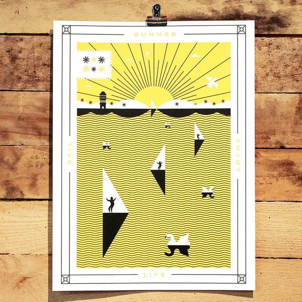 Plakát Summer, 41x30 cm