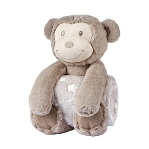 Maimuțică de pluș cu pătutică pentru copii Biederlack