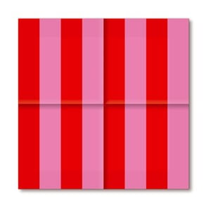 Papírové ubrousky Pink&Red, 20 ks
