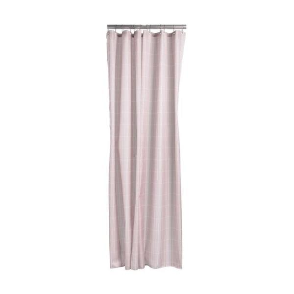 Tiles világos rózsaszín zuhanyfüggöny, 180x200 cm - Zone