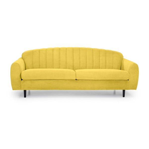 Žlutá trojmístná pohovka Softnord