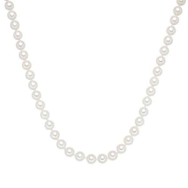 Perlový náhrdelník Muschel, bílé perly 8 mm, délka 45 cm