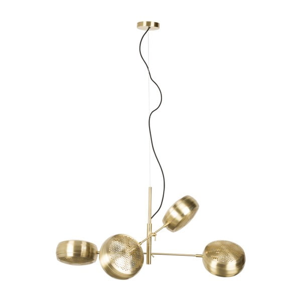 Stropné svietidlo v mosadznej farbe Zuiver Gringo Pendant