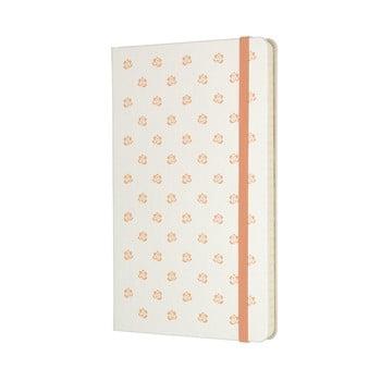 Caiet Moleskine Beauty, 240 pag., hârtie dictando, copertă rezistentă, alb imagine