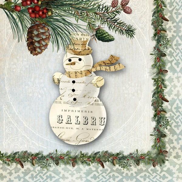 Set 10 șervețele din hârtie cu motive de Crăciun PPD Winter Lodge Snowman