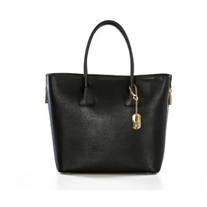 Černá kabelka z pravé kůže Federica Bassi Camila