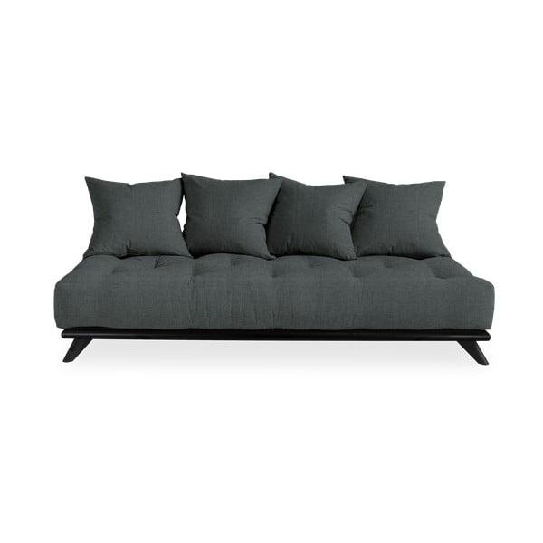 Sofa z ciemnoszarym obiciem Karup Design Senza Black/Slate Grey