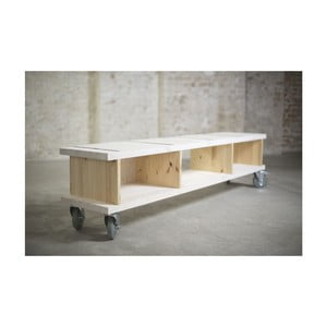 Televizní stolek Alma na kolečkách