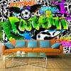 Velkoformátová tapeta Artgeist Football Graffiti, 400x280cm