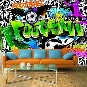Velkoformátová tapeta Artgeist Football Graffiti, 300x210cm