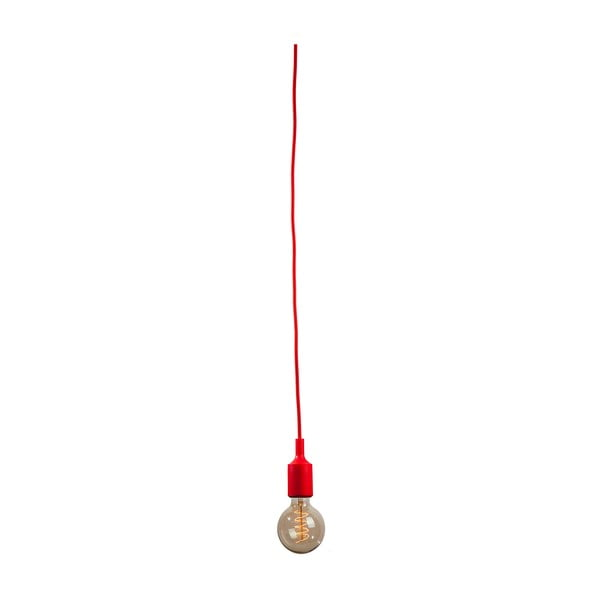Textilní kabel s objímkou 3 m - červený