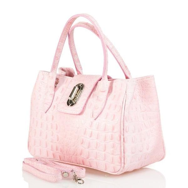 Kožená kabelka Laura, růžová