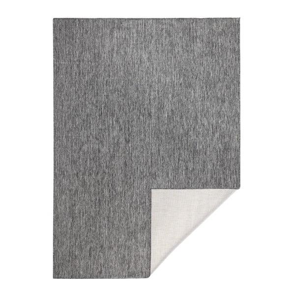 Szary dywan dwustronny odpowiedni na zewnątrz Bougari Miami, 80x150 cm