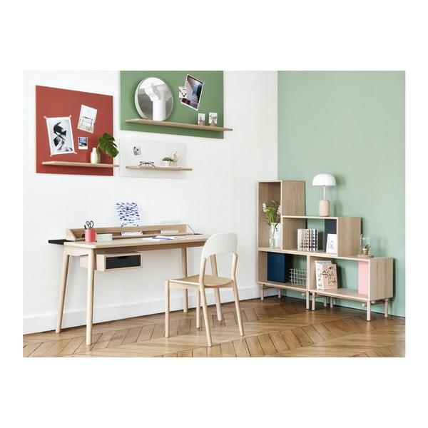 Pracovní stůl z dubového dřeva s černou zásuvkou HARTÔ Honoré, 140x70cm