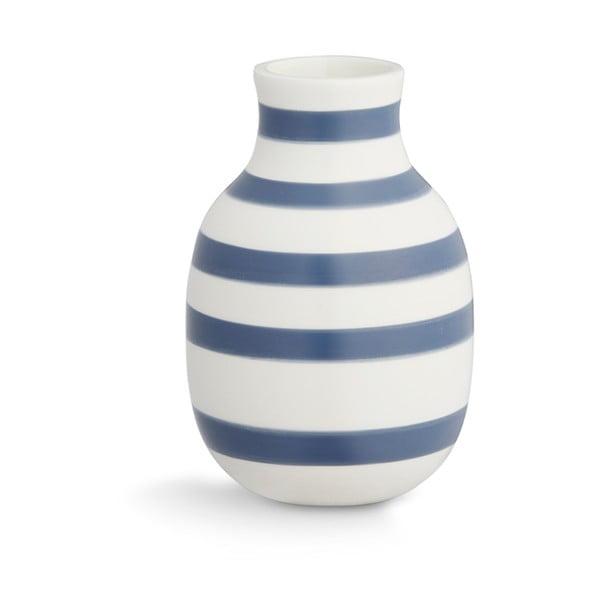 Modro-bílá kameninová váza Kähler Design Omaggio, výška 12,5 cm