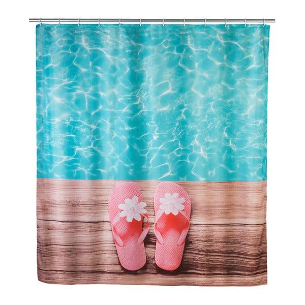 Barevný sprchový závěs Wenko Hawaii, 180 x 200 cm