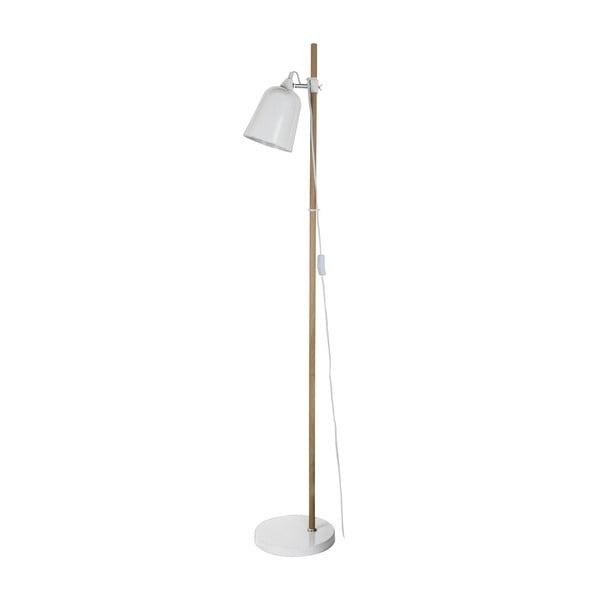 Bílá stojací lampa ETH Wood